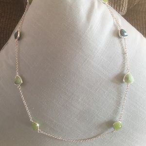 Jewelry - 💰BOGO💰 pretty teal/green long beaded necklace